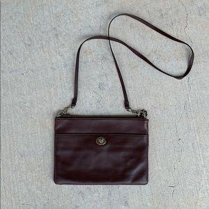 Coach Crossbody/Clutch Brown Leather